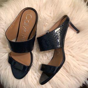 Calvin Klein Shoes - Calvin Klein - Cecily Patent Python Sandal